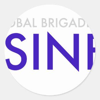 Business Brigades Classic Round Sticker
