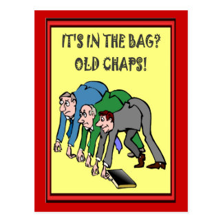 Business buddies, It's in the bag, old chaps Postcard