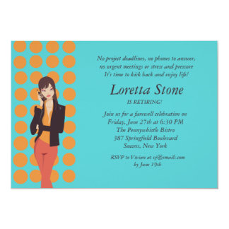 "Business Call Retirement Invitation 5"" X 7"" Invitation Card"