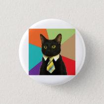 Business Car Advice Animal Meme Pinback Button
