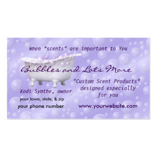 Business Card2- Lav Bubbles- customize as you wish Business Card