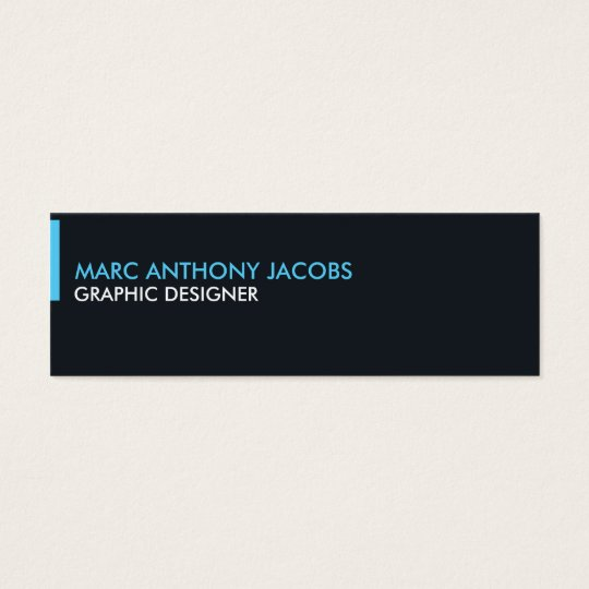 Business Card 002 - Modern Minimal, Black / Blue