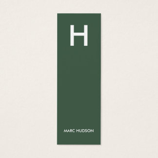 Business Card 003 - Slim Stylish, Green / White