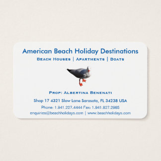 Business Card 16 Holiday Travel
