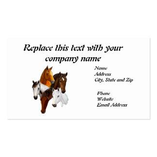 Business Card, 5 Horse Heads Business Card