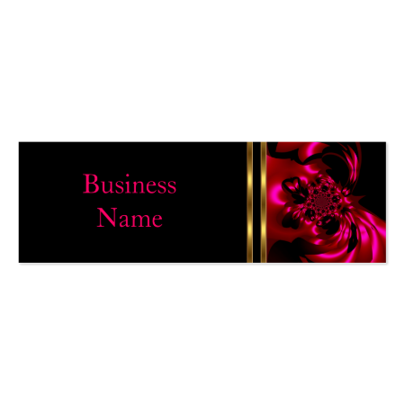 Business Card Abstract Metal Pink Black Skinny Business Card Templates