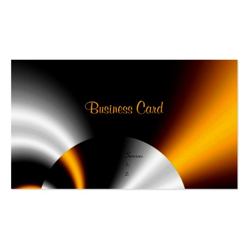 Business Card Abstract Orange Grey Silver Black