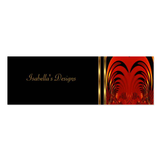 Business Card Abstract Red Black Skinny Business Card Templates