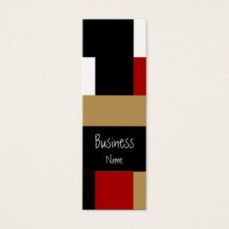 Business Card Abstract Red Black White Tan Geo
