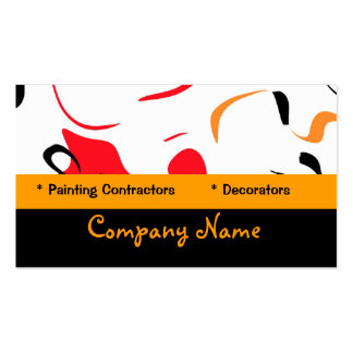Business Card Abstract Red Yellow Paint Splash