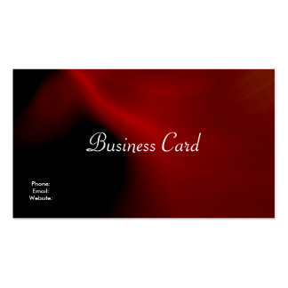 Business Card Abstract Silk Red Black Business Card Template