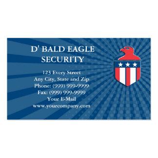 Business card American Bald Eagle Head Flag Shield