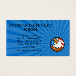 Business card American Bald Eagle Head Looking Up