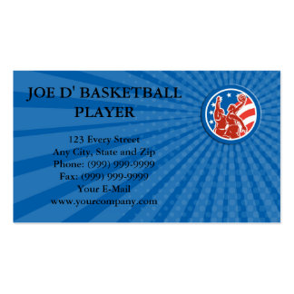 Business card American Basketball Player Dunk Bloc Business Cards