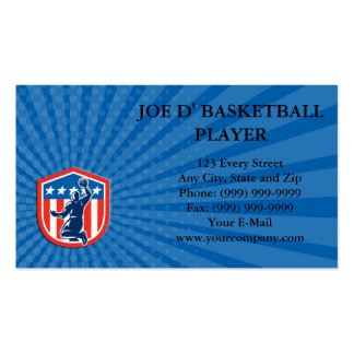 Business card American Basketball Player Dunk Rear Business Card