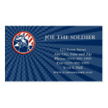 Business card American Soldier Salute Holding Rifl