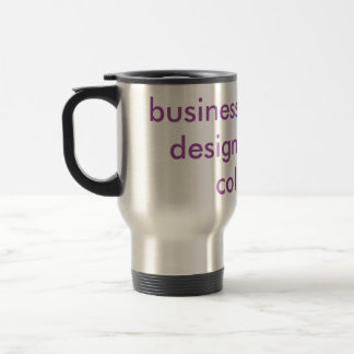 """Business card and design""  in 3d Travel Mug"