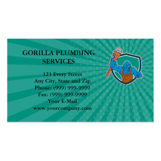 Business card Angry Gorilla Plumber Monkey Wrench