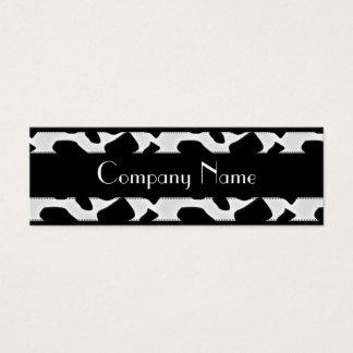 Business Card Animal Cow Print Black White Skinny