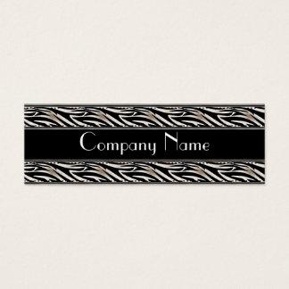 Business Card Animal Print Black Skinny