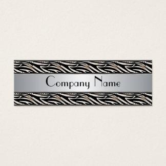 Business Card Animal Print Silver Skinny