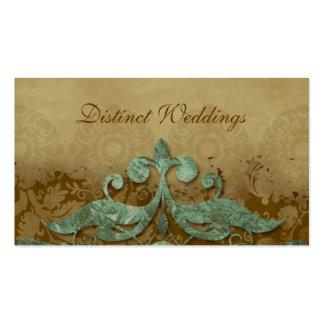 Business Card Antique Verdigris Wedding Planner