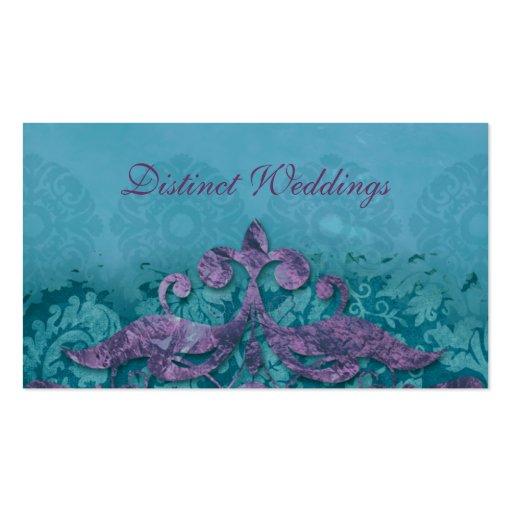 Business Card Antique Verdigris Wedding Planner PT