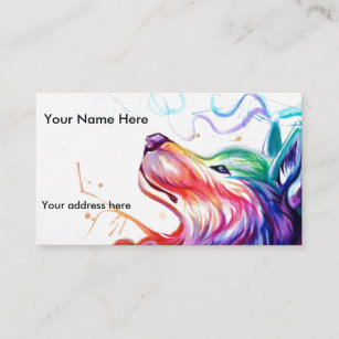 Dogs gifts on zazzle business cardappointment card watercolor dog colourmoves