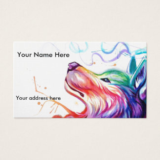 Business Card/appointment card watercolor dog