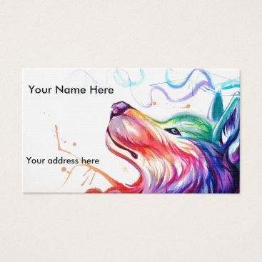 Professional Business Business Card/appointment card watercolor dog