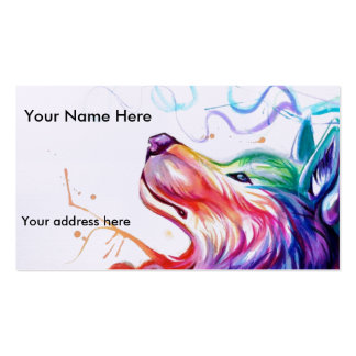 Business Card/appointment card watercolor dog Business Card