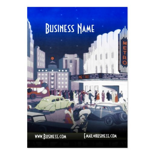 Business Card Art Deco