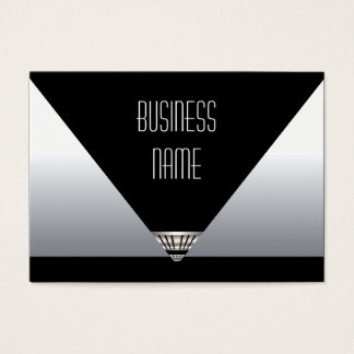 Business Card Art Deco Black Silver