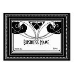 Business Card Art Nouveau Deco Elegant Business Cards
