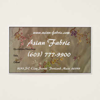 Business Card Asian Fabric (Border)