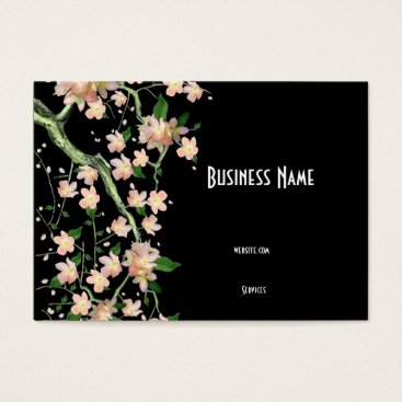 Professional Business Business Card Asian Japanese Peach Blossom