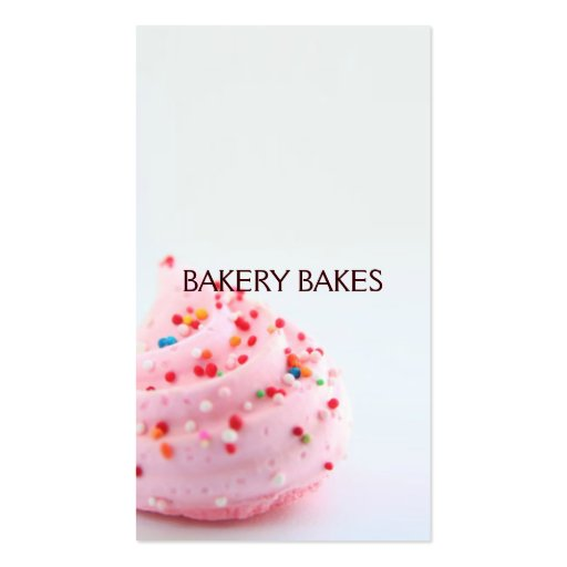 Business Card | Bakery |bluepink (back side)