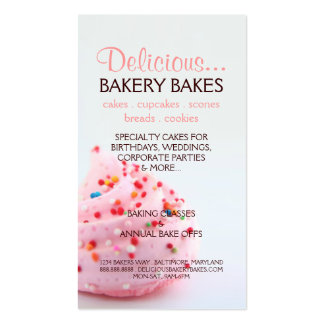 Business Card | Bakery Too |bluepink