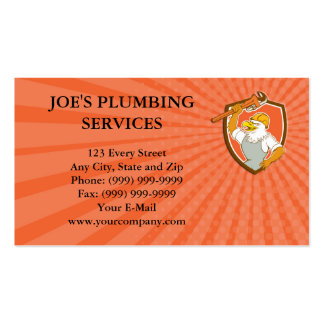 Business card Bald Eagle Plumber Monkey Wrench Shi