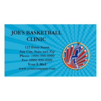 Business card Basketball Player Jump Shot Ball Cir