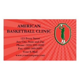 Business card Basketball Player Jump Shot Ball Shi Pack Of Standard Business Cards