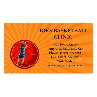 Business card Basketball Player Jump Shot Ball Woo