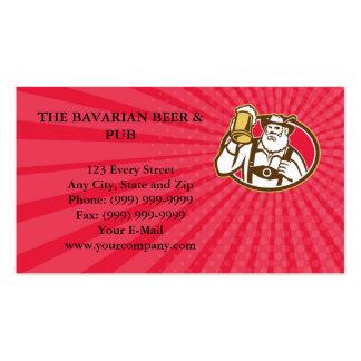 Business card Bavarian Beer Drinker Mug Retro