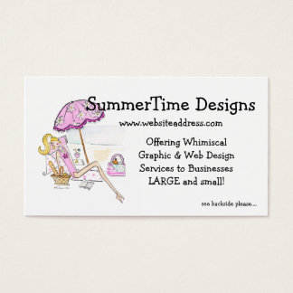 Business Card :: Beach Girl Summer