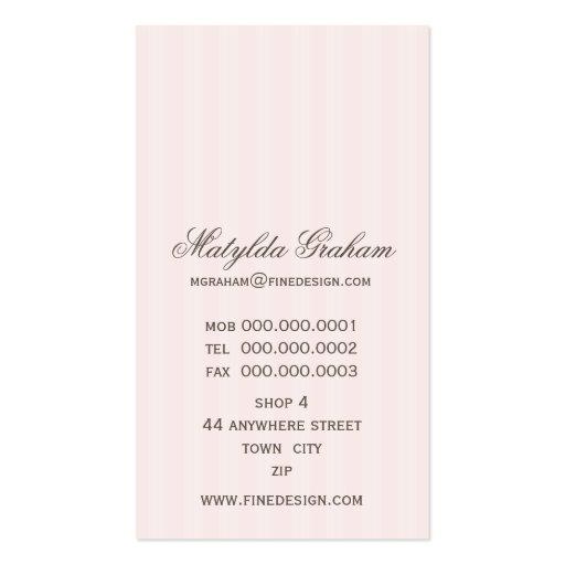 BUSINESS CARD :: beautiful renaissance 2 (back side)