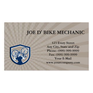 Business Card Bicycle Mechanic Carry Bike Shield R