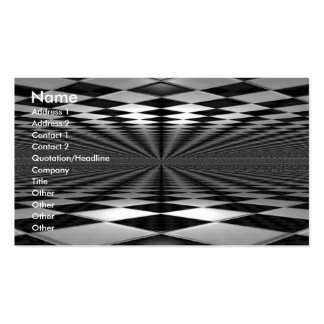 Business Card Black and White Tiles