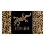 Business Card Black Animal Lizard Jewel