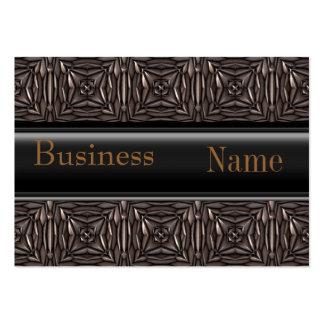 Business Card Black Brown Metal look Embossed