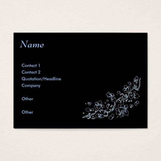 Business card, Black , ethereal Business Card